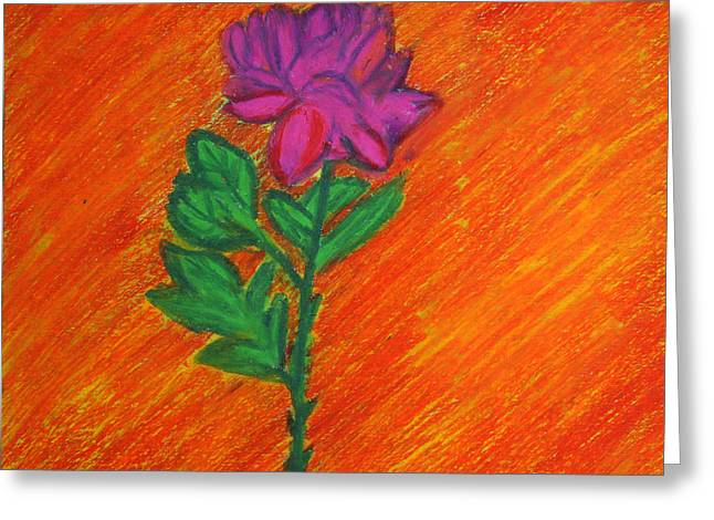 Beauty Pastels Greeting Cards - Autumn Flower Greeting Card by Vadim Levin