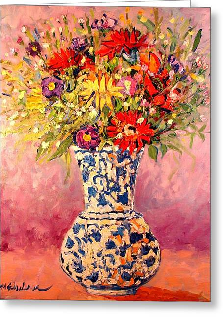 Table Greeting Cards - Autumn Flowers Greeting Card by Ana Maria Edulescu