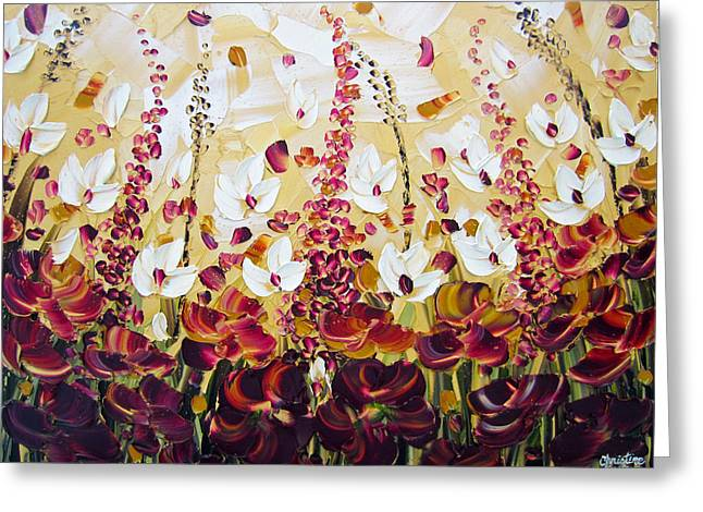 Artist Christine Krainock Greeting Cards - Autumn Flowers Greeting Card by Christine Krainock