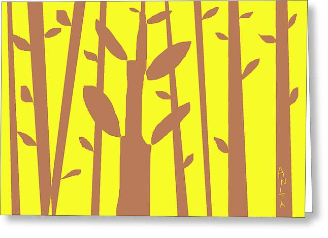 Abstract Digital Drawings Greeting Cards - Autumn Forest Greeting Card by Anita Dale Livaditis