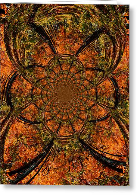 Reds Of Autumn Mixed Media Greeting Cards - Autumn Forest Greeting Card by Dan Sproul