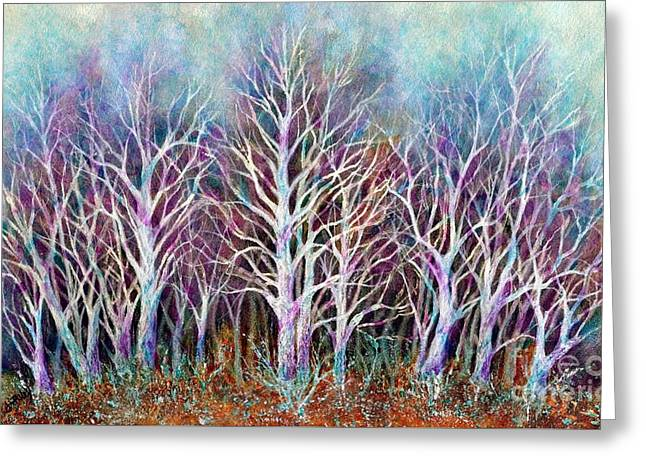 Bare Trees Greeting Cards - Autumn Frost Greeting Card by Janine Riley