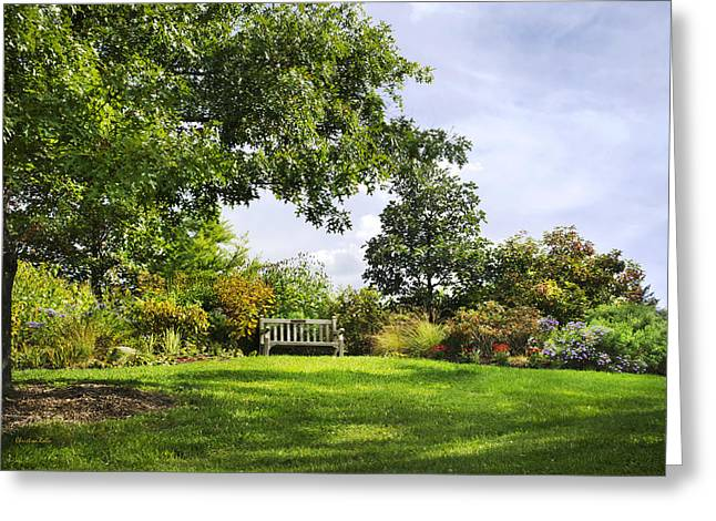 Ithaca Greeting Cards - Autumn Garden Greeting Card by Christina Rollo