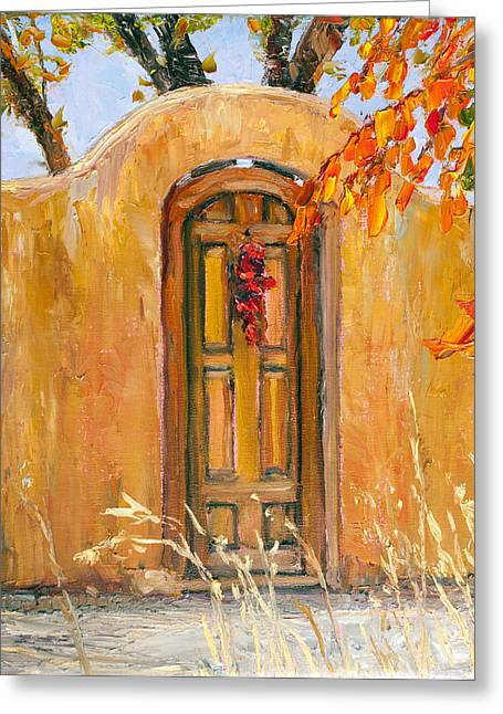 Steven Boone Greeting Cards - Autumn Gate Greeting Card by Steven Boone