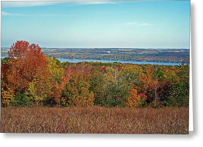 Canandaigua Greeting Cards - Autumn Glory Greeting Card by Aimee L Maher Photography and Art