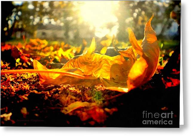 Rural Decay Digital Art Greeting Cards - Autumn glory Greeting Card by Janine Riley