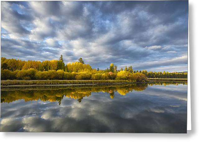 Deschutes River Greeting Cards - Autumn Glow Greeting Card by Christian Heeb