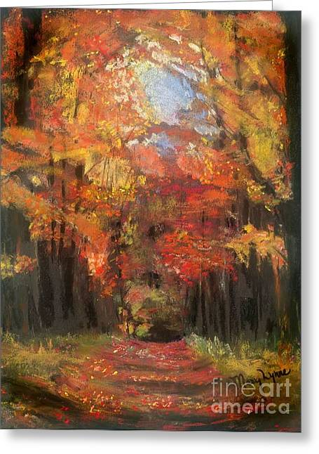 Fall Colors Pastels Greeting Cards - Autumn Glow Greeting Card by Mary Lynne Powers