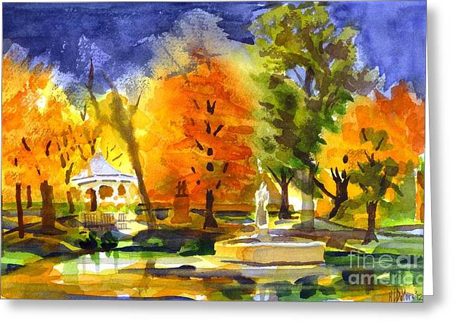 Reflection On Pond Greeting Cards - Autumn Gold 2 Greeting Card by Kip DeVore