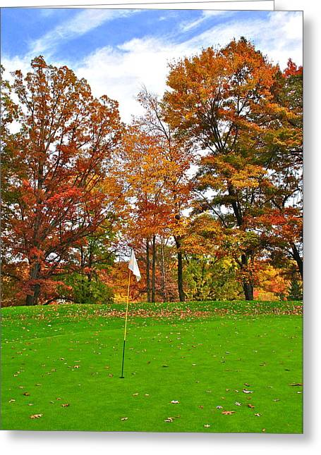 Snead Greeting Cards - Autumn Golf Greeting Card by Frozen in Time Fine Art Photography
