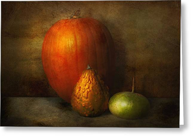 Gifts For A Cook Greeting Cards - Autumn - Gourd - Melon family  Greeting Card by Mike Savad