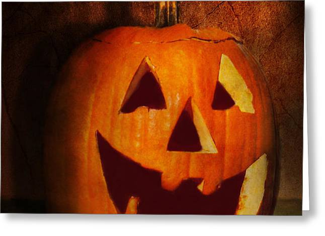 Autumn - Halloween - Jack-o-Lantern  Greeting Card by Mike Savad