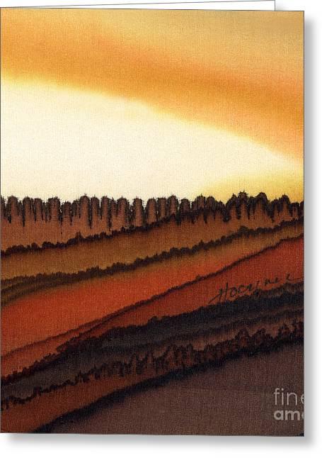 Autumn Harvest Greeting Card by Addie Hocynec