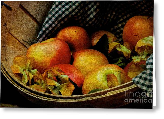 Harvest Art Digital Art Greeting Cards - Autumn Harvest Greeting Card by Lois Bryan