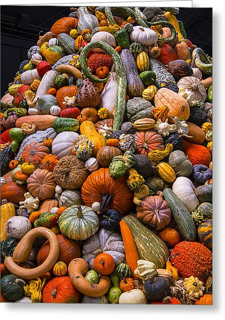 Melon Greeting Cards - Autumn Harvest Pile Greeting Card by Garry Gay