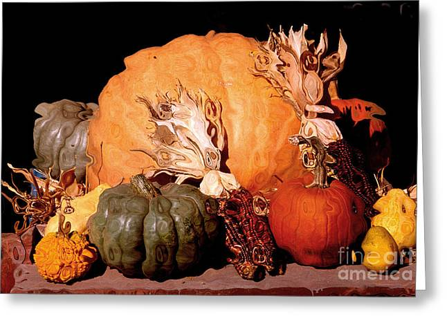 Farm Stand Greeting Cards - Autumn Harvest. Greeting Card by Robert Kleppin