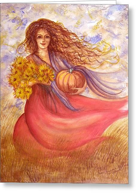 Autumn Harvest Greeting Card by Sheri Lauren Schmidt