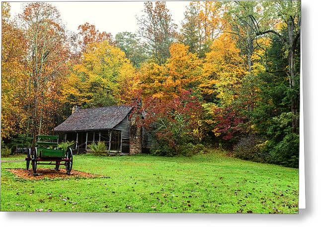 Field Greeting Cards - Autumn Home Greeting Card by Andres Leon