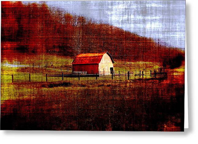 Autumn Homestead Greeting Card by Chastity Hoff
