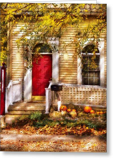 Savad Digital Art Greeting Cards - Autumn - House - A Hint of Autumn  Greeting Card by Mike Savad