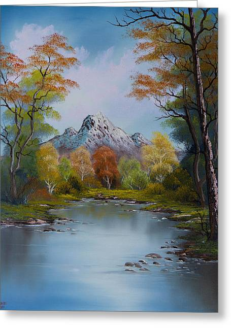 Bob Ross Paintings Greeting Cards - Ready for Fall Greeting Card by C Steele