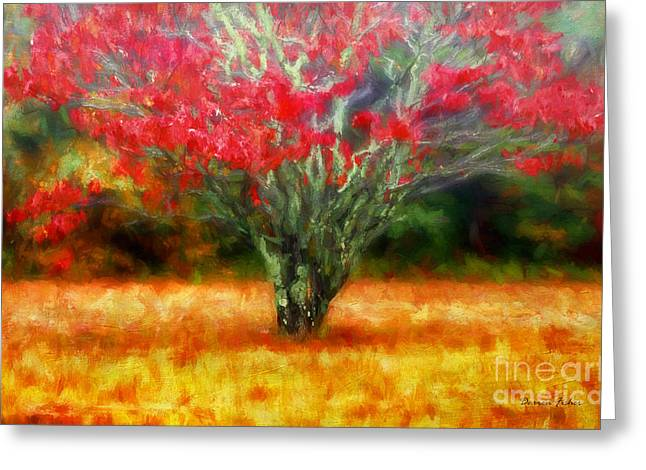 Mystical Landscape Greeting Cards - Autumn Impression Greeting Card by Darren Fisher