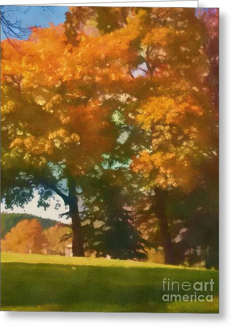 Fall Trees Greeting Cards - Autumn Impression Greeting Card by Lutz Baar