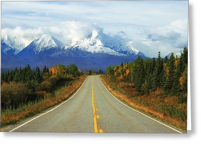Road Travel Greeting Cards - Autumn in Alaska Greeting Card by Mountain Dreams