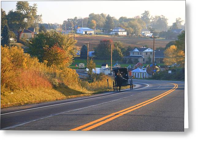 Autumn In Berlin Ohio Greeting Card by Dan Sproul