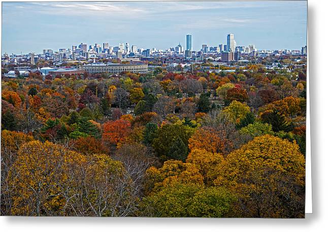 Boston Ma Greeting Cards - Autumn in Boston Greeting Card by Toby McGuire