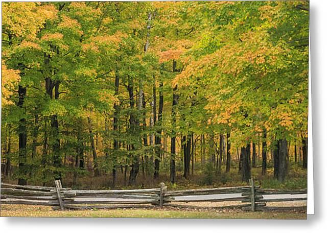 Autumn in Door County Greeting Card by Adam Romanowicz