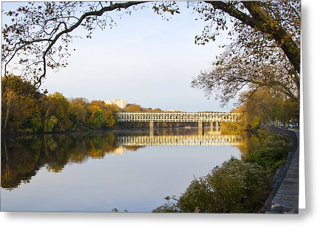 Kelly Drive Digital Greeting Cards - Autumn in East Falls Greeting Card by Bill Cannon