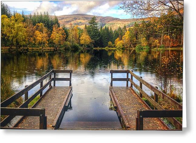 Lochan Greeting Cards - Autumn in Glencoe Lochan Greeting Card by Dave Bowman