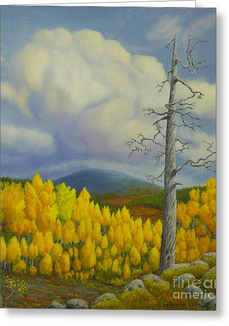 Mossy Greeting Cards - Autumn in Lapland Greeting Card by Veikko Suikkanen