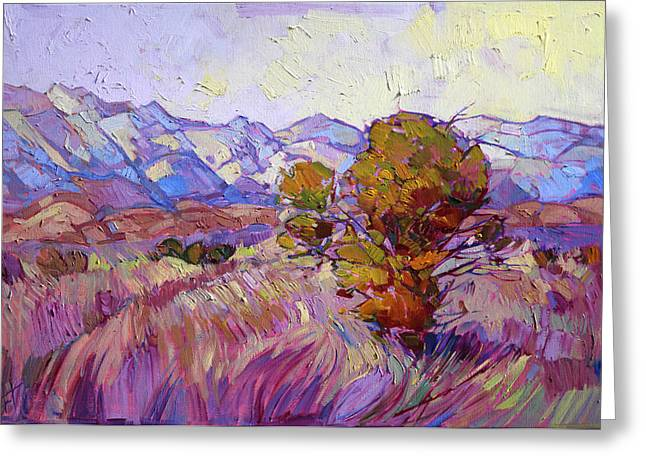 Lone Pine Greeting Cards - Autumn in Lavender Greeting Card by Erin Hanson