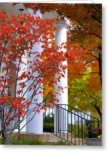 Fall Scenes Greeting Cards - Autumn in Long Grove 2 Greeting Card by Julie Palencia
