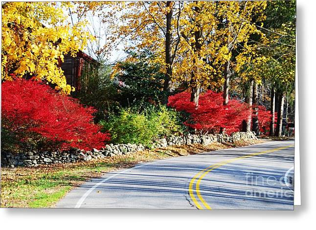 Autumn In New England 1 Greeting Card by Marcus Dagan