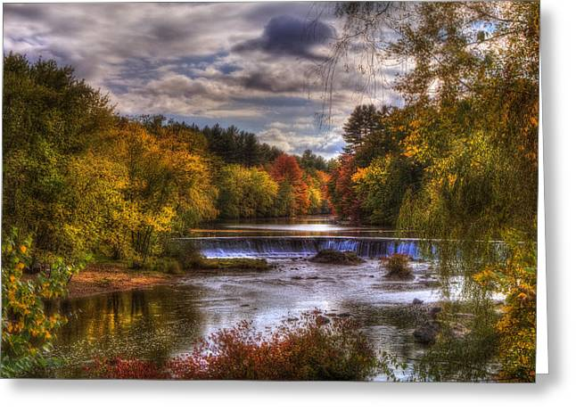 Small Town Usa Greeting Cards - Autumn in New England - Contoocook NH Greeting Card by Joann Vitali