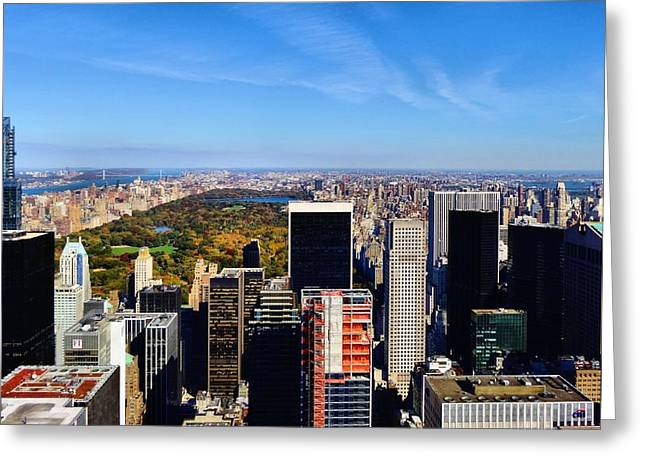 People In Autumn Greeting Cards - Autumn In New York City Greeting Card by Dan Sproul