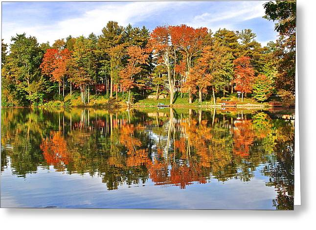 Willow Lake Greeting Cards - Autumn in Ohio Greeting Card by Frozen in Time Fine Art Photography