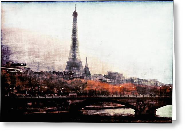Painted In Paris Greeting Cards - Autumn in Paris Greeting Card by Barbara D Richards
