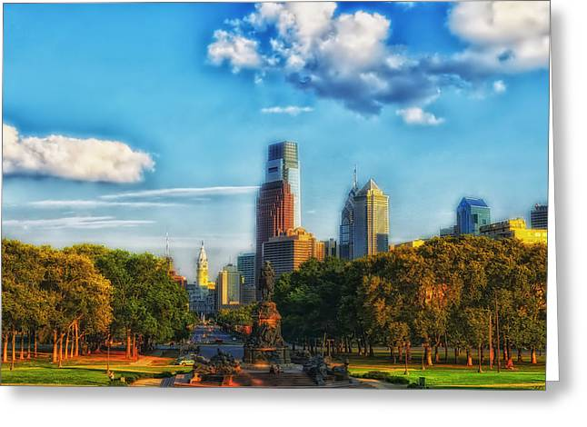 Downtown Franklin Greeting Cards - Autumn in Philadelphia Greeting Card by Mountain Dreams