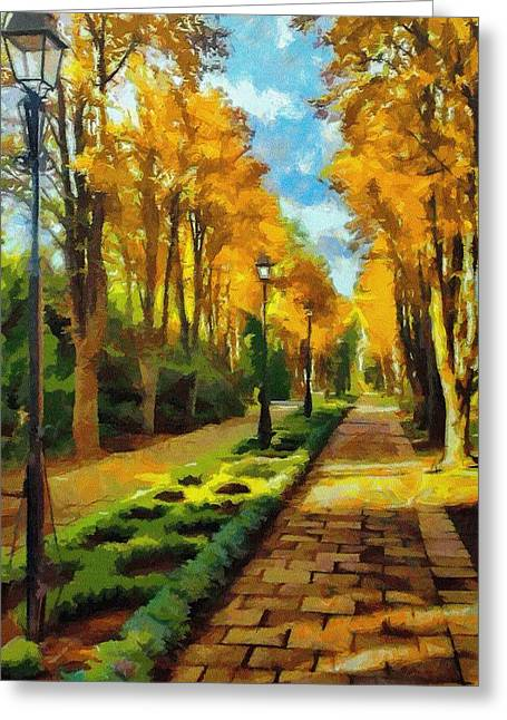 Botanicals Greeting Cards - Autumn in Public Gardens Greeting Card by Jeff Kolker