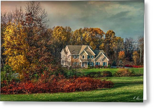 Quaker Greeting Cards - Autumn in the Quaker State Greeting Card by Hanny Heim