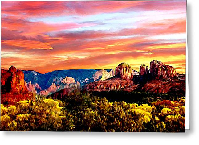 Oak Creek Greeting Cards - Autumn in Red Rock State Park Greeting Card by  Bob and Nadine Johnston