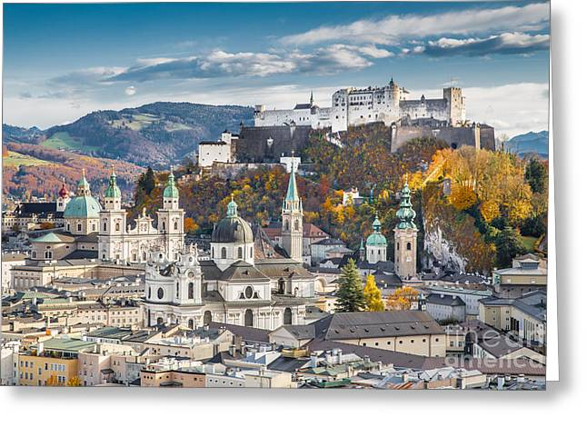 Salzburg Greeting Cards - Autumn in Salzburg Greeting Card by JR Photography