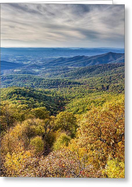 Road Trip Greeting Cards - Autumn in Shenandoah National Park Greeting Card by Pierre Leclerc Photography