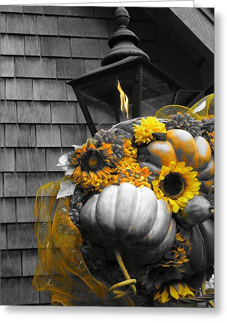 Autumn In The Country Greeting Cards - Autumn In The City Greeting Card by Dan Sproul