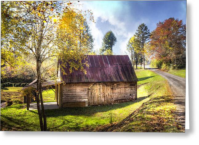 Fall In Georgia Greeting Cards - Autumn in the Country Greeting Card by Debra and Dave Vanderlaan