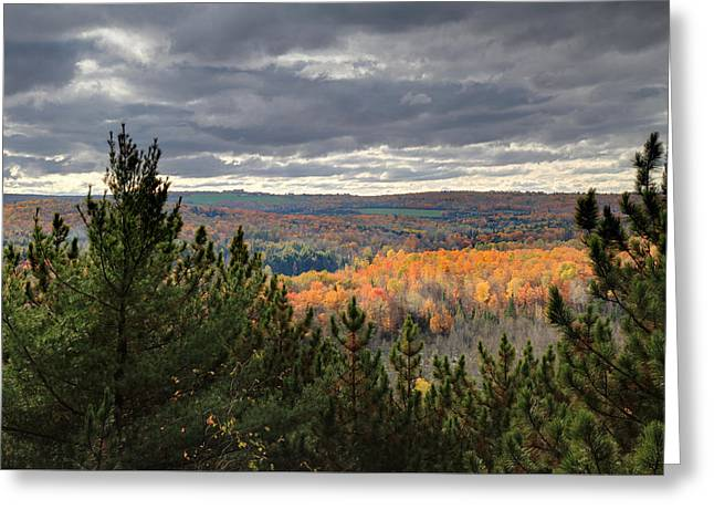 Log Cabins Greeting Cards - Autumn in the eastern Townships Greeting Card by Pierre Leclerc Photography
